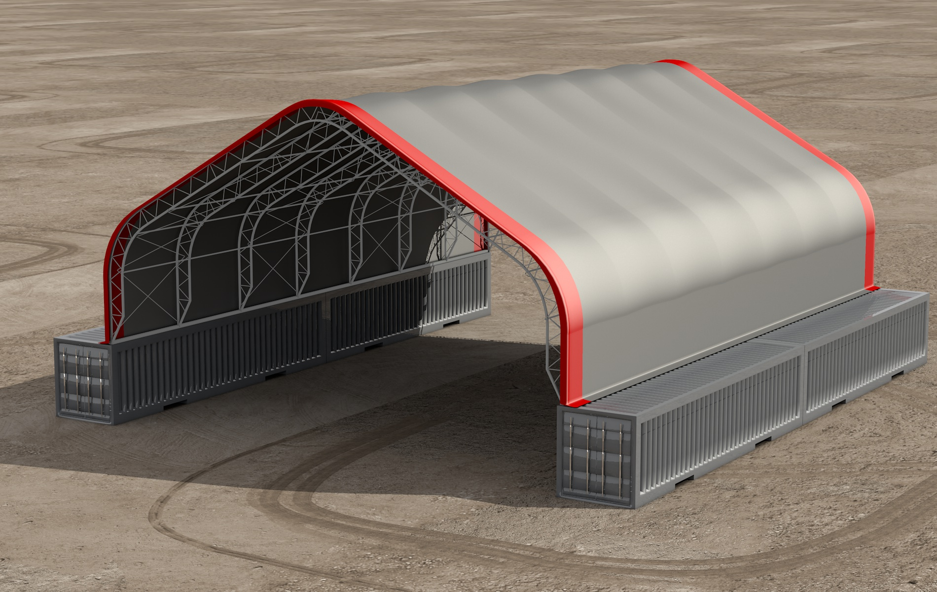 Foundation options for fabric buildings alaska structures for Shipping container pier foundation