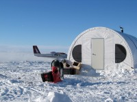 SQX-series Quonset Hut Fabric Shelter snow camp.