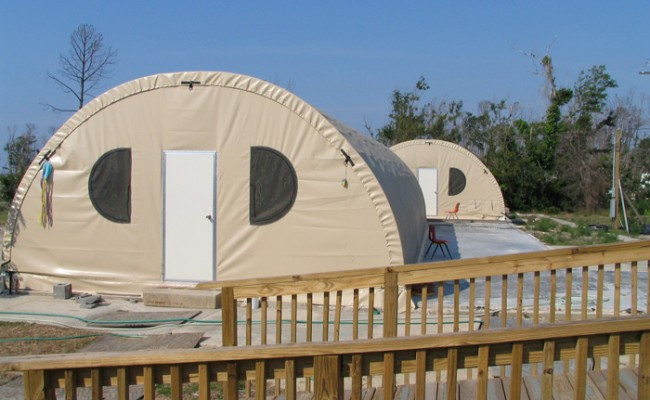 SQX-series Quonset Hut Fabric Shelter Campground