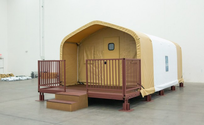 TSX-series Portable Cabins with deck and earth pads