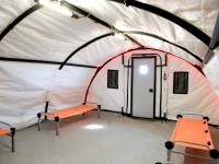 XPL-series Quick Erect Fabric Shelter interior.