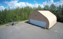 Fabric Airplane Hangar