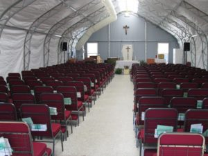 Fabric Building Church Revival Tent Interior