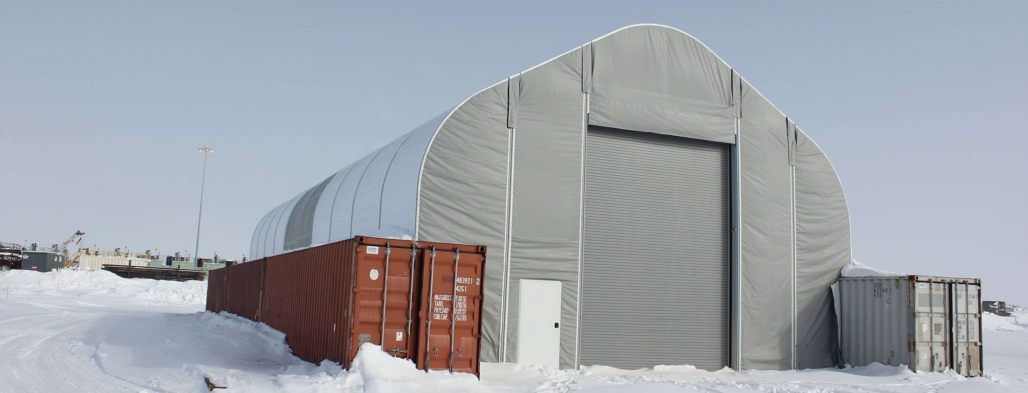 Alaska Structures building specialists were there to consult help assist and guide the crew in its erection/assembly. & Commercial Fabric Buildings | Alaska Structures